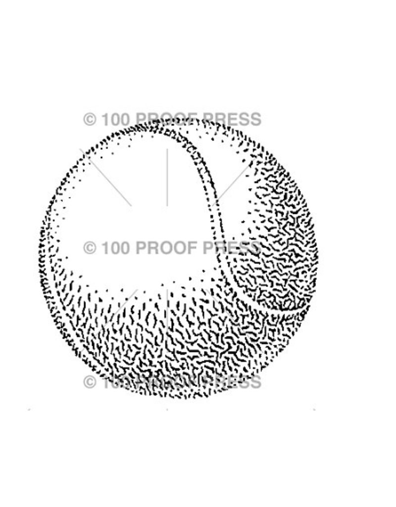 100 Proof Press Stamp Tennis Ball