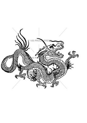 100 Proof Press Stamp Large Chinese Dragon