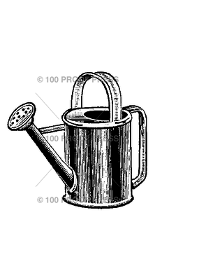 100 Proof Press Stamp Watering Can