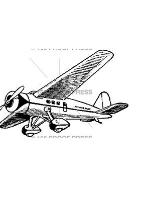 100 Proof Press Stamp Winnie Mae Plane