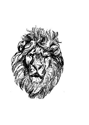 100 Proof Press Stamp Lion Head