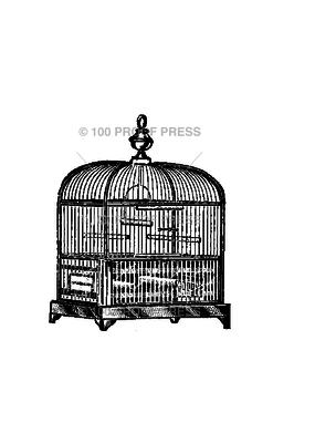 100 Proof Press Stamp Bird Cage