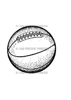 100 Proof Press Stamp Basketball