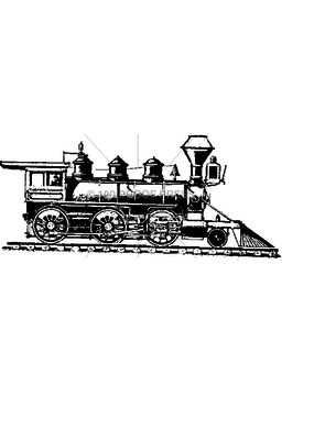 100 Proof Press Stamp Train Engine on Track