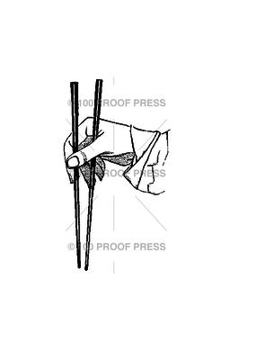 100 Proof Press Stamp Chop Sticks