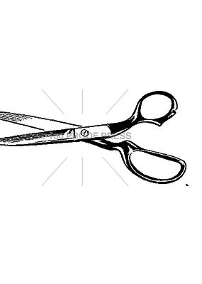 100 Proof Press Stamp Open Scissors Dark Handle