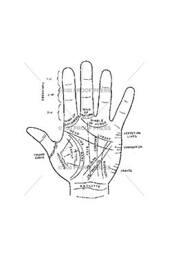 100 Proof Press Stamp Palmistry Hand