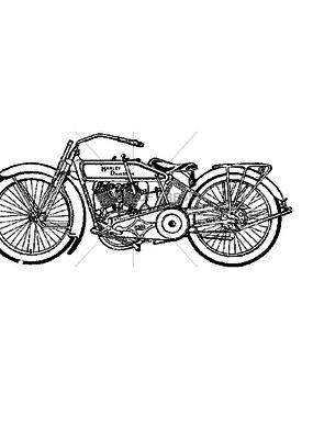 100 Proof Press Stamp Harley Davidson