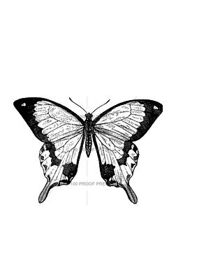 100 Proof Press Stamp Mocker Swallowtail