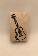 100 Proof Press Stamp Folk Guitar
