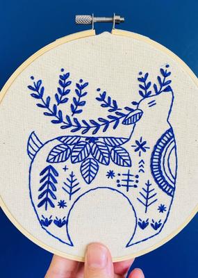 Hook, Line & Tinker Embroidery Kit Hygge Reindeer