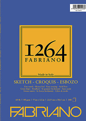 Fabriano Fabriano 1264 Sketch Pad Spiral Bound 9 x 12