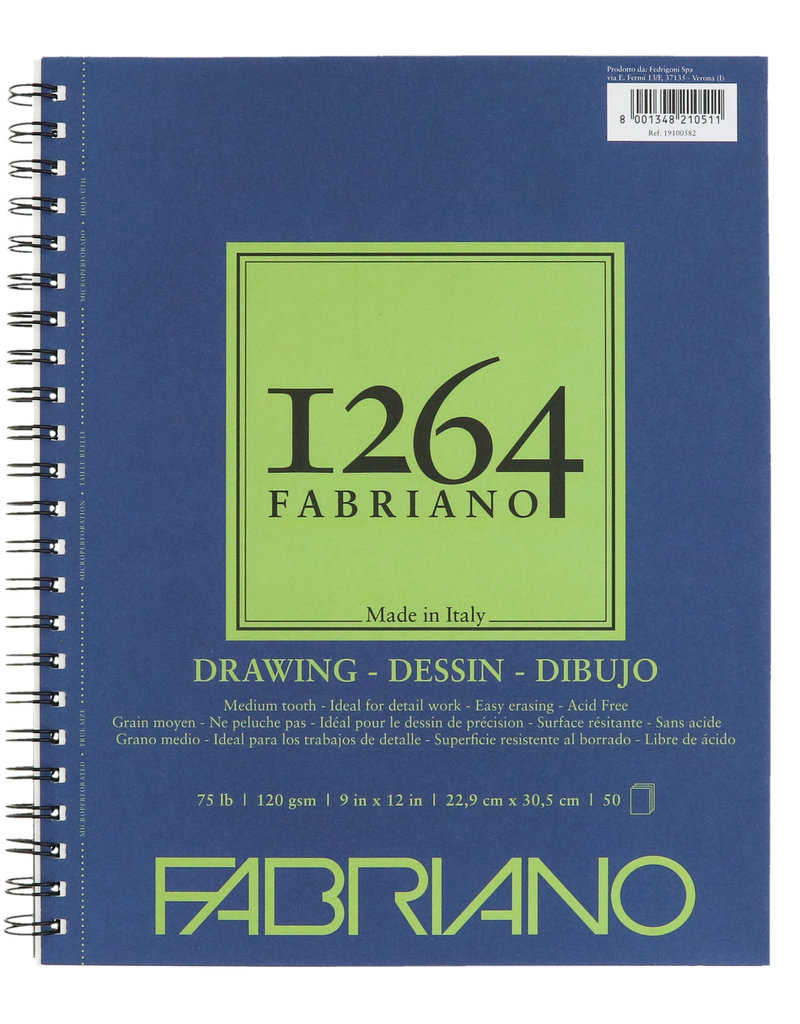 Fabriano Fabriano 1264 Drawing Pad 75lb 9 x 12