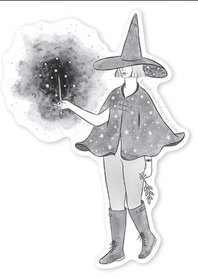 Bee's Knees Sticker Starry Witch