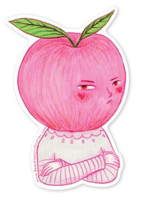 Bee's Knees Sticker Grumpy Apple