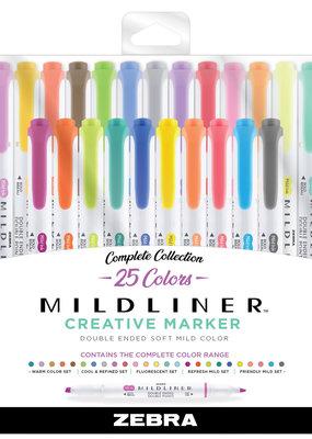 Zebra Zebra Mildliner 25 Color Set