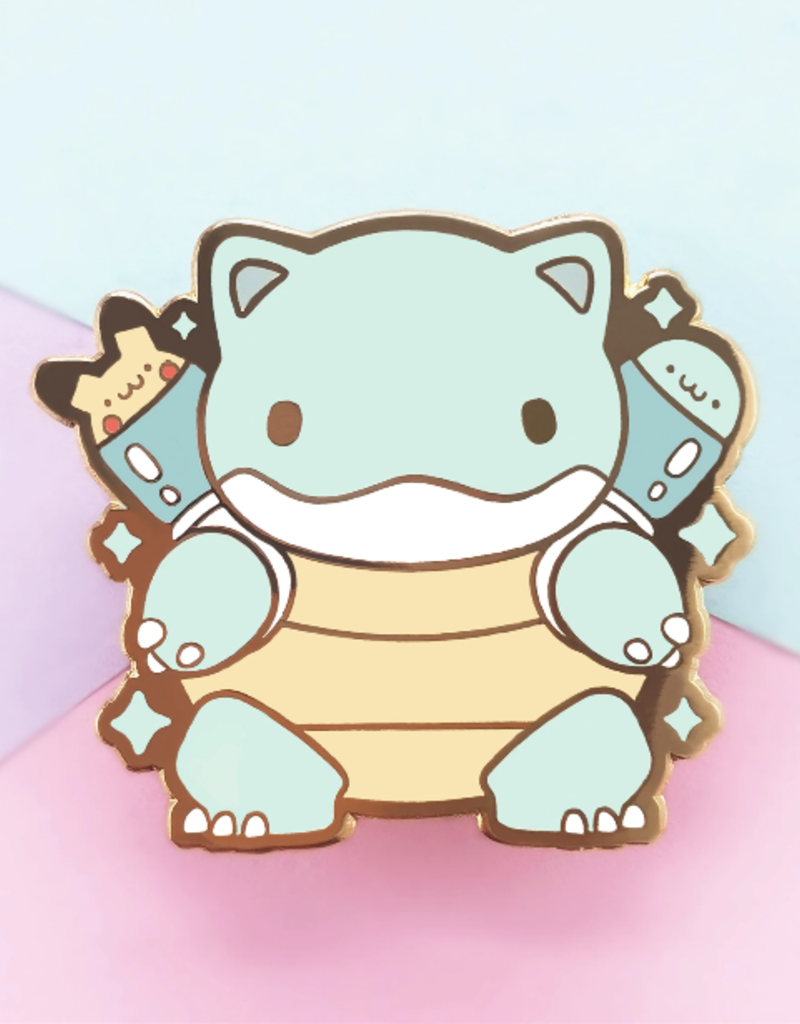 collage Enamel Pin Kawaii  Blastoise