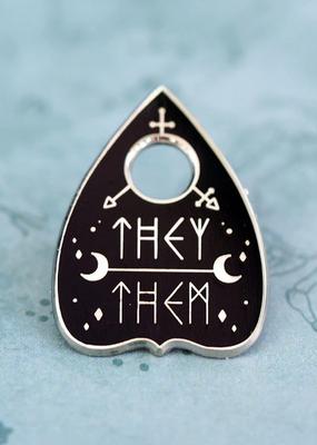 collage Enamel Pin They Them Ouija