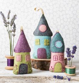 Corinne Lapierre Limited Felt Craft Kit Lavender Houses