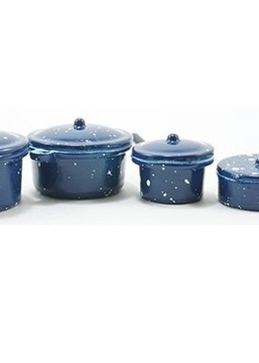 Handley House Miniature Blue Enamel Cookware