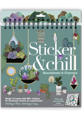 Ann Williams Sticker & Chill Book Succulents & Crystals
