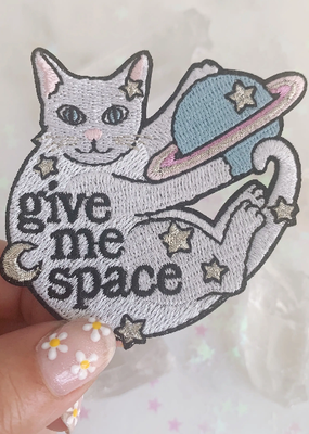 Wildflower + Co. Patch Give Me Space Cat