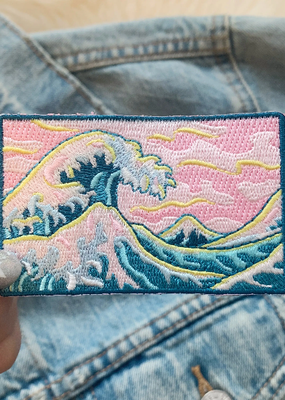 Wildflower + Co. Patch Great Wave & Pink Skies