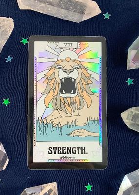 Wildflower + Co. Tarot Card Sticker  Strength
