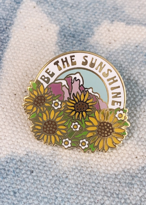 Wildflower + Co. Enamel Pin Be the Sunshine