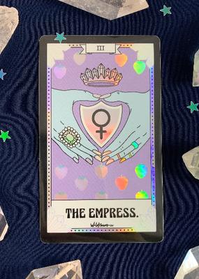 Wildflower + Co. Tarot Card Sticker  Empress