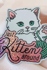 Wildflower + Co. Glitter  Sticker Just Kitten Around