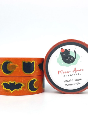 Meow Amor Creative Washi Classic Halloween Gold Foil