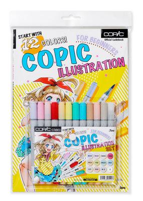 Copic Copic Ciao 12 Piece Illustration Bundle Set