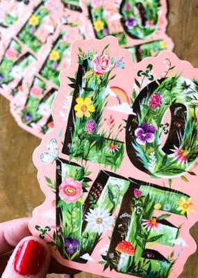 Katie Daisy Sticker Love Grows