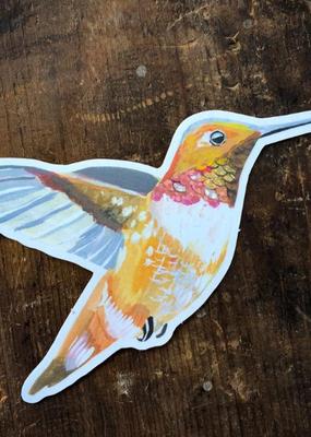 Katie Daisy Sticker Rufous Hummingbird