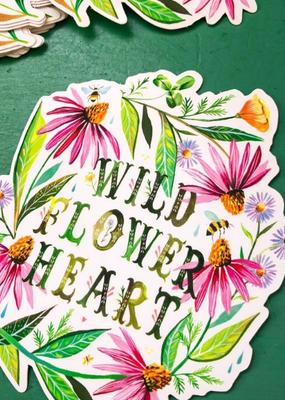 Katie Daisy Sticker Wildflower Heart