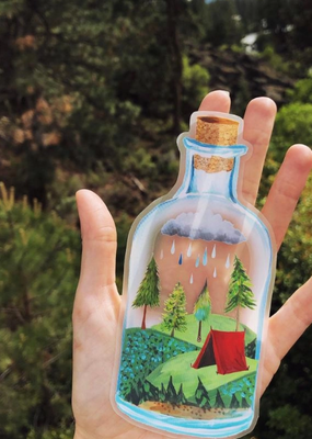 Katie Daisy Sticker Wilderness in a Bottle