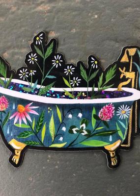 Katie Daisy Sticker Bathtub