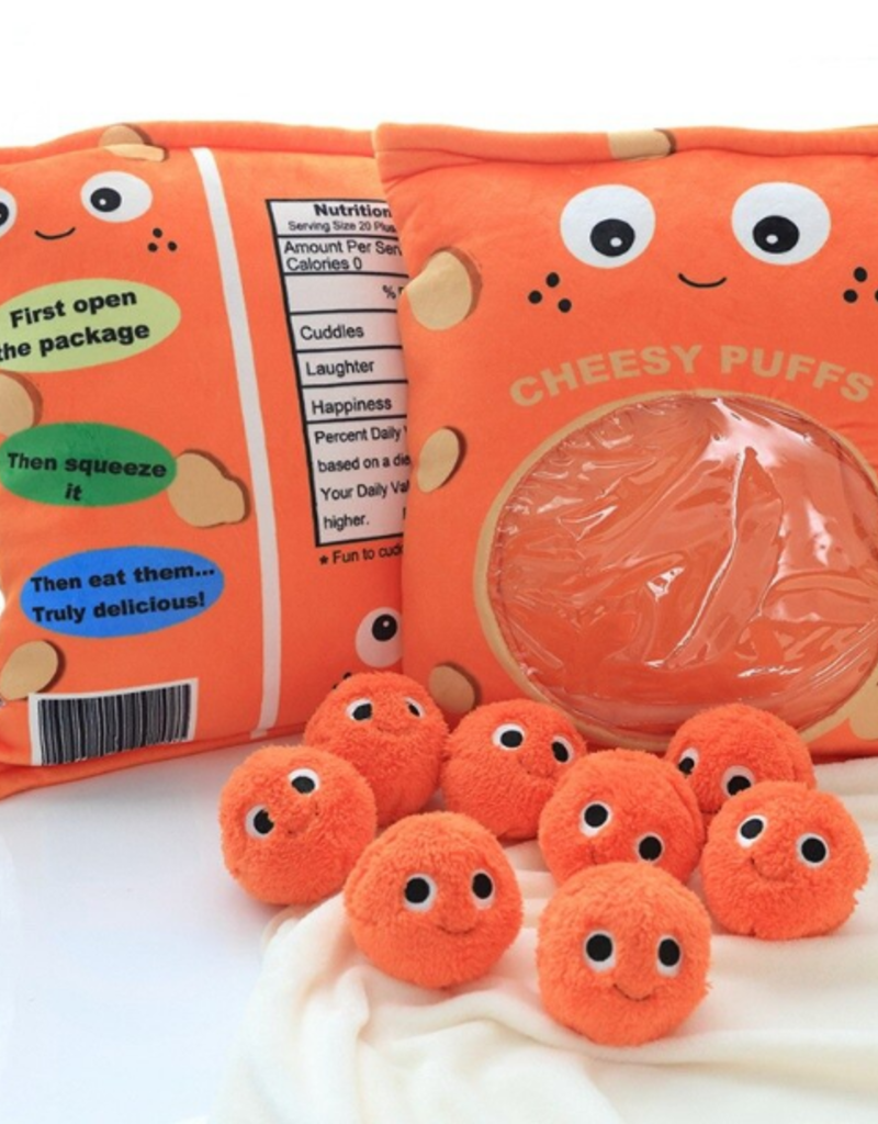 collage Cheesy Puffs Snack Pillow