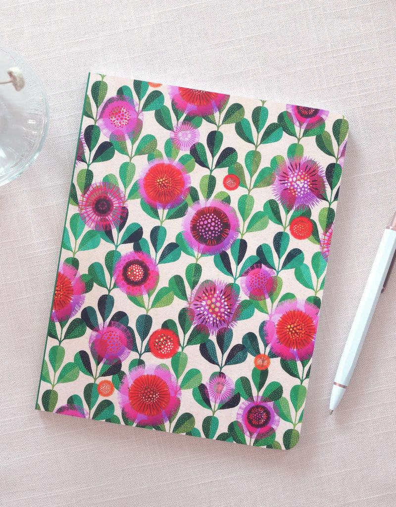Denik 2022 Layflat Planner Hand Print Blooms
