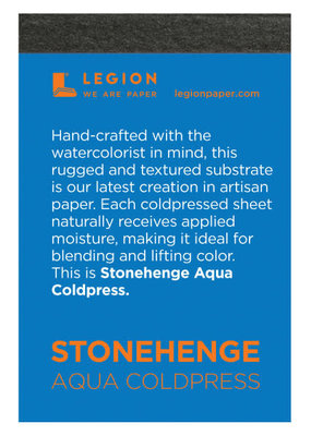 Legion Paper Mini Paper Pad Stonehenge Aqua Coldpress