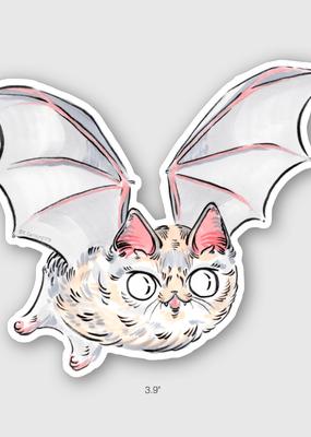 Paper Puffin Sticker Bat Cat