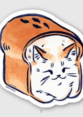 Paper Puffin Sticker Bread Loaf Cat