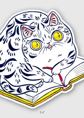Paper Puffin Sticker Book Striped Cat
