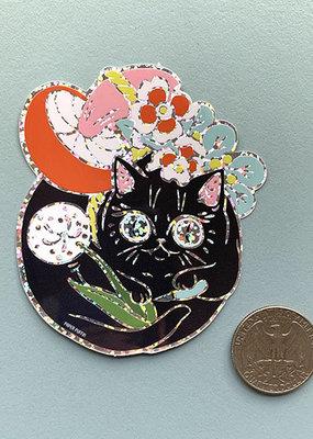 Paper Puffin Sticker Curious Nature Cat