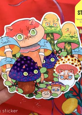 Paper Puffin Sticker Mushroom Circle 27