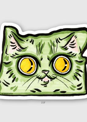 Paper Puffin Sticker Oregon Cat