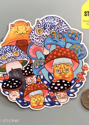 Paper Puffin Sticker Mushroom Circle 36