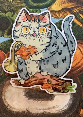 Paper Puffin Sticker Chanterelle Cat