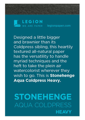 Legion Paper Mini Paper Pad Stonehenge Aqua Coldpress Heavy